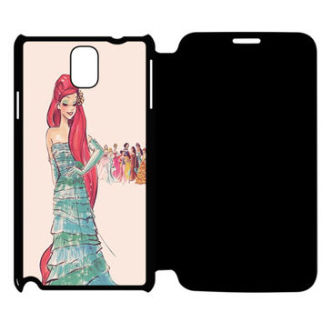 Vintage Disney Princess Ariel Samsung Galaxy Note 4 Flip Case Cover