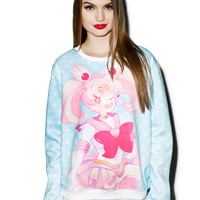 Spree Picky Pink Sugar Heart Attack Jumper Multi