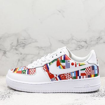2018 FIFA World Cup Nike AIR FORCE 1 AF1 Low National Flag Sport Shoes Sneakers - Best Online Sale
