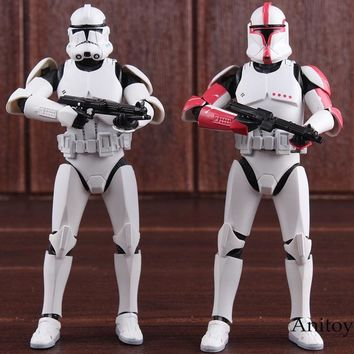 Star Wars Force Episode 1 2 3 4 5  SHF S.H.Figuarts Clone Trooper PHASE II / PHASE I Captain PVC Action Figure Collectible Model Toy 15cm AT_72_6