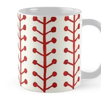 'Watercolor Berry Stripes' Mug by DoucetteDesigns