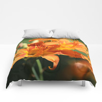 Day Lily Dance Comforters by Theresa Campbell D'August Art