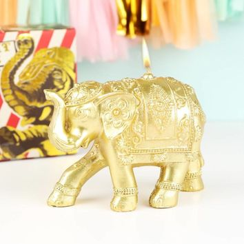 gold elephant candle by lisa angel | notonthehighstreet.com