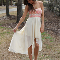 High Tide Maxi, Ivory/Coral