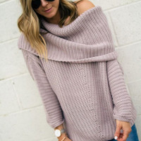 Irresistible Allure Off The Shoulder Sweater