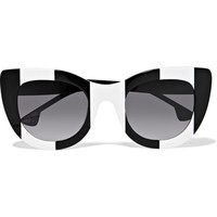 Alice + Olivia - Delancey cat-eye acetate sunglasses