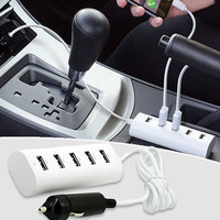 6-Amp 5-Port USB Car Charger