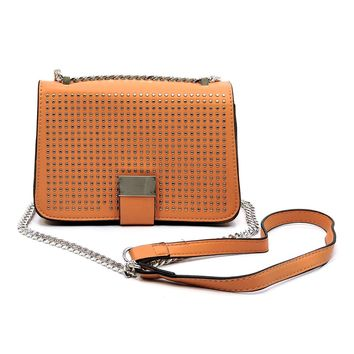 Micro Studded Crossbody Bag