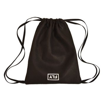 inverted fly drawstring pack