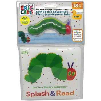 Kids Preferred Eric Carle The Very Hungry Caterpillar Bath Book & Squirty