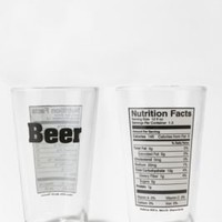 UrbanOutfitters.com > Beer Nutrition Pint Glass