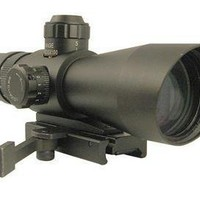 NcStar Mark III Tactical 4x32 illuminated Rifle Scope With Quick Detach Scope Mount For AR15 Mini-14