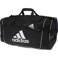 Adidas Defender II Duffel Medium - Black-Duffle & Gym Bags-Backpacks & Bags-WOMEN'S - Sport Chalet