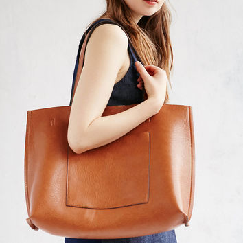 Reversible Vegan Leather Tote Bag | Urban Outfitters