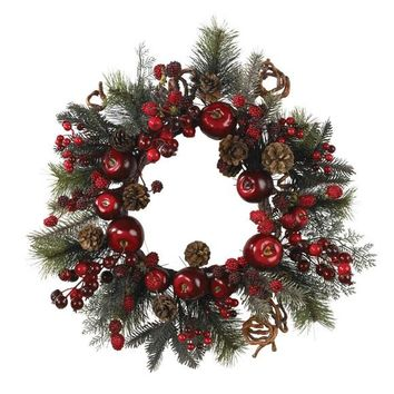 "22"" Apple Berry Wreath"