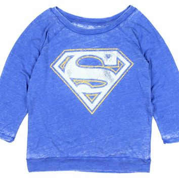 DC Comics Womens' Superman Raglan Shirt
