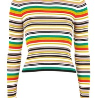 Hyper Stripe Knitted Crop Jumper | Topshop