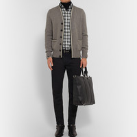 Tom Ford - Slim-Fit Checked Brushed-Cotton Shirt | MR PORTER