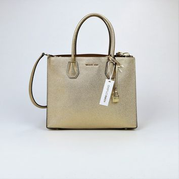Michael Kors Studio Large Leather Mercer Satchel