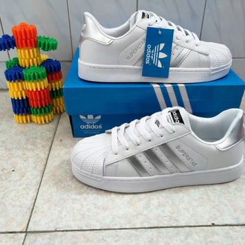 """Adidas Superstar"" Fashion Casual Unisex Small White Shoes Couple Shell Head Plate Shoes"