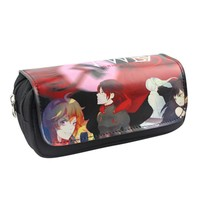 Free Shipping Anime RWBY/Yuri On Ice/Overwatch/Harry Potter Cosmetic Cases Pencil Holder School Children Makeup Bag Kids Cases