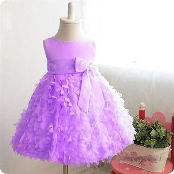 Summer Brand Baby Girl Dress Kids Princess Costume Little Girl Ceremony Dress Children Prom Evening Dress 2 4 6 8 Years Birthday