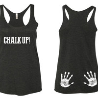 Chalk Up Tank Top. Crossfit Tank Top. Lifting Tank Top. Womens Gym Tank top