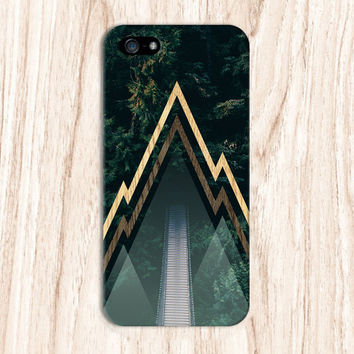 Forest Drawstring Bridge x Jagged Wood Lines Phone Case for iPhone 6 6 Plus iPhone 5 5s 5c 4 4s Samsung Galaxy s6 s5 s4 & s3 and Note 5 4 3