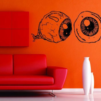 Creepy Eyeballs Sticker Wall Vinyl Decal Decals Halloween Zombie Eye Eyes