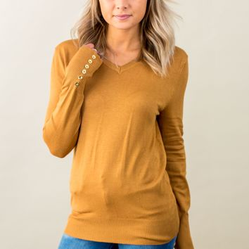 Button Sleeve Sweater-Multiple Options (S-3X)