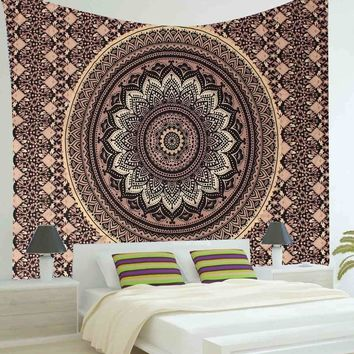 200X145cm Polyester Indian Mandala Tapestry Wall Hanging Art Throw Bedding Bedspread Throw Blanket Home Decor Textiles Supplies