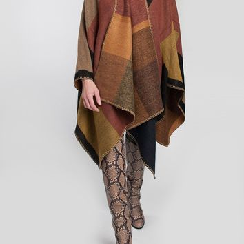 RD Style Colorblock Poncho