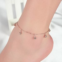 Gift Shiny Cute New Arrival Ladies Sexy Jewelry Stylish Hot Sale Accessory Bells 925 Silver Korean Anklet [8080499655]