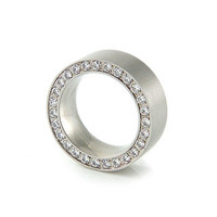 Square Eternity Ring Steel Or Rosegold