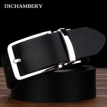 2016 Fashion Pin Buckle Genuine Leather Mens Belt