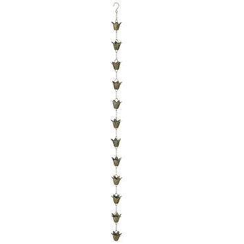 Lily Rain Chain with Patina Finish - 58-in