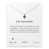 fearless! flower skull necklace, sterling silver