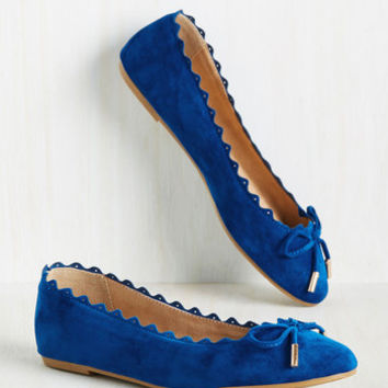 Recipe for Finesse Flat in Cobalt | Mod Retro Vintage Flats | ModCloth.com