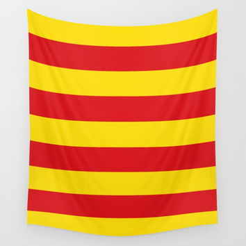 senyera catalunya-catalunya,cataluna,catalonha,espanya,iberica,Barcelona Wall Tapestry by oldking