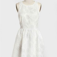 dixie floral eyelet dress in white at ShopRuche.com