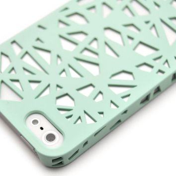 For Apple iPhone 5 5S- Wydan Birds Nest Woven Design Case Cover - Mint Green:Amazon:Cell Phones & Accessories