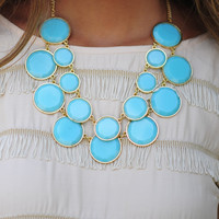 The Finishing Touch Necklace: Aqua | Hope's