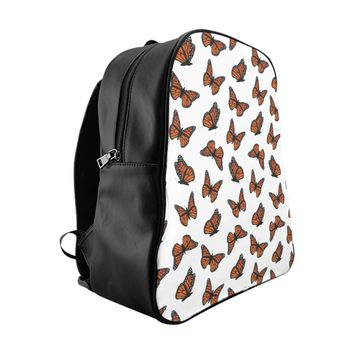 Monarch Butterflies School Backpack