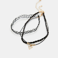 Glitter Dust Tattoo Choker Necklace Trio | Wet Seal