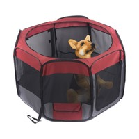 "Favorite 48"" Portable Outdoor Puppy Dog Playpen Foldable Indoor Kennel Crate"