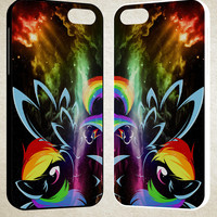 Rainbow Dash Pony My Little A1761 iPhone 4S 5S 5C 6 6Plus, iPod 4 5, LG G2 G3, Sony Z2 Case