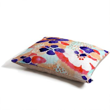 CayenaBlanca Ikat Flowers Pet Bed