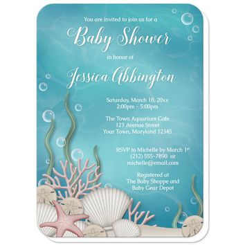 Whimsical Under the Sea Baby Shower Invitations
