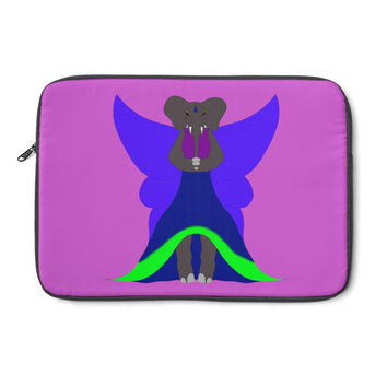 Sapphire Elephant by Caeleigh- Laptop Sleeve