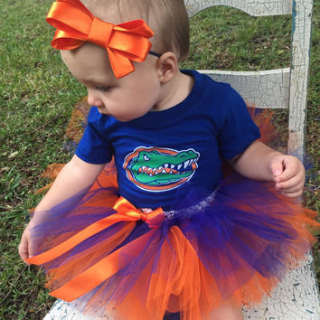 Florida Tutu and Headband Set, gator tutu, Florida gator, gator baby, Florida Girl, college football, newborn photo shoot